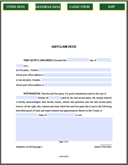 Free loan document template