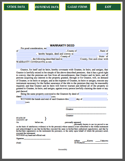 warranty deed form free fillable pdf forms free fillable pdf forms