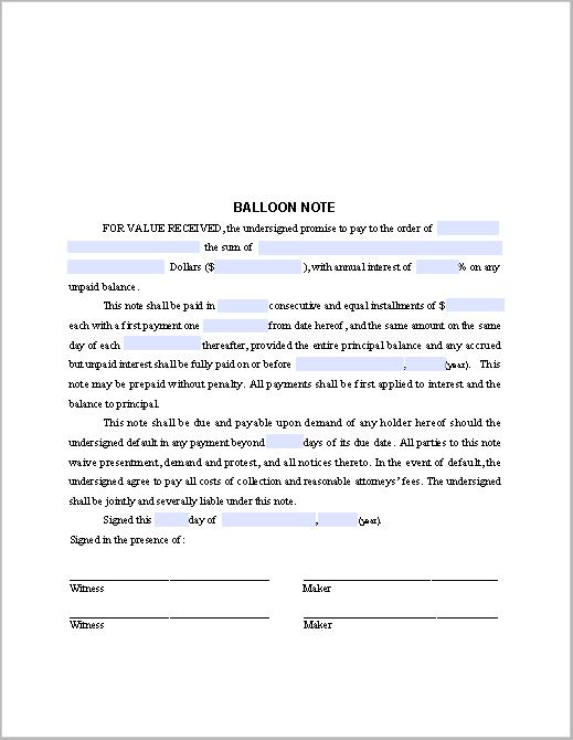 Balloon Note Sample