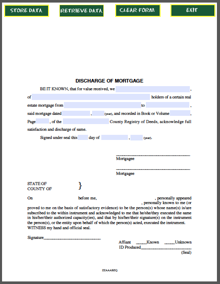 Discharge Of Mortgage Certificate Free Fillable Pdf