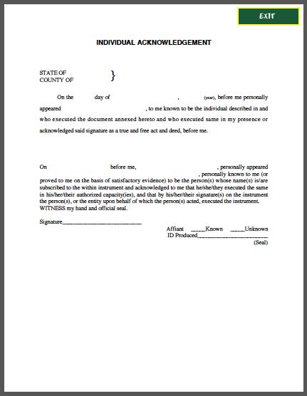 Acknowledgement receipt letter template