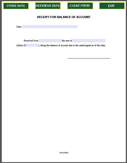 fillable rent receipt template pdf