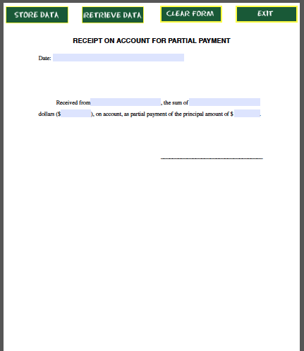 ... Payment Receipt Form - Free Fillable PDF Forms | Free Fillable