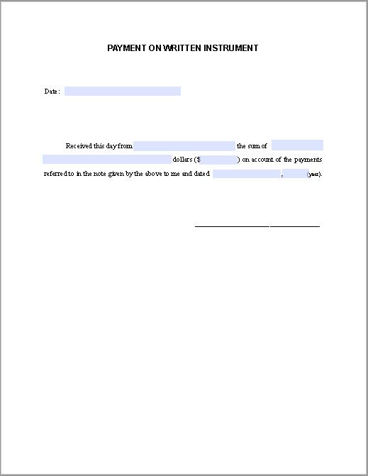 Payment Receipt Form