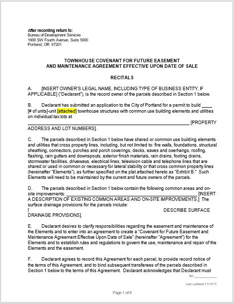 Maintenance Agreement Template 06