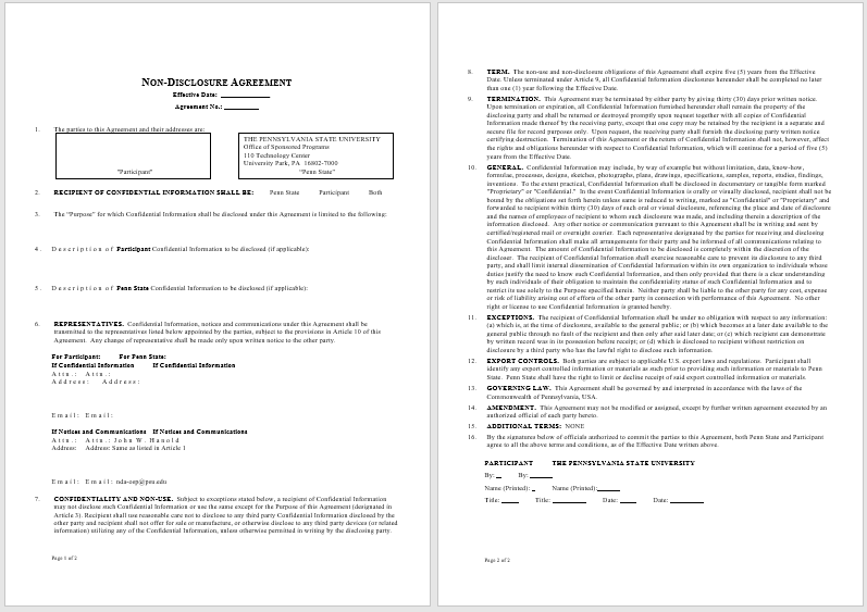 Non Disclosure Agreement Template 05