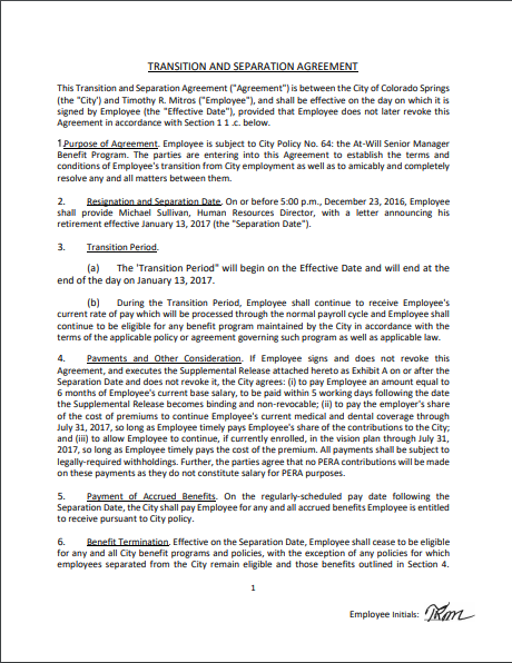 Separation Agreement Template 01
