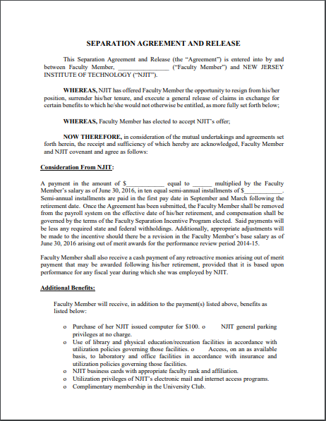 Separation Agreement Template 03
