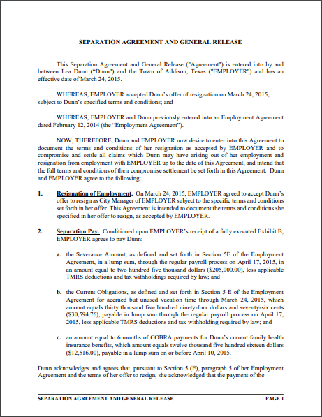 Separation Agreement Template 04