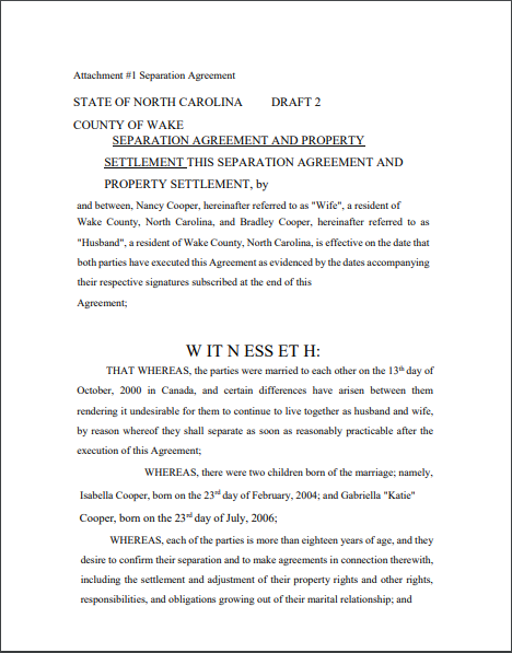 Separation Agreement Template 07