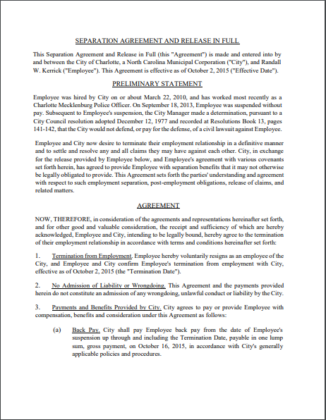 Separation Agreement Template 09