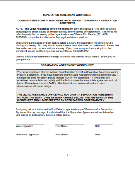 Separation Agreement Template 10