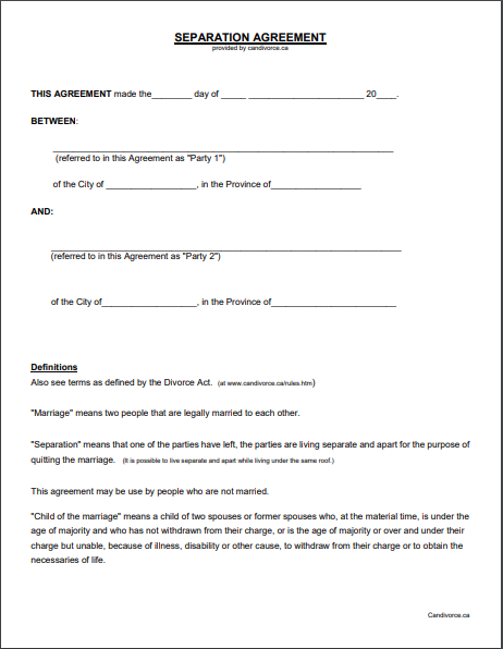 Separation Agreement Template 11