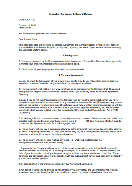 Separation Agreement Template 12