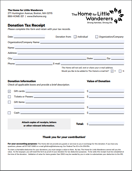 20 Free Donation Receipt Templates Samples Free Fillable Pdf Forms
