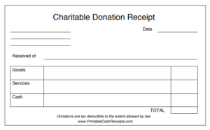 donation receipt template 05