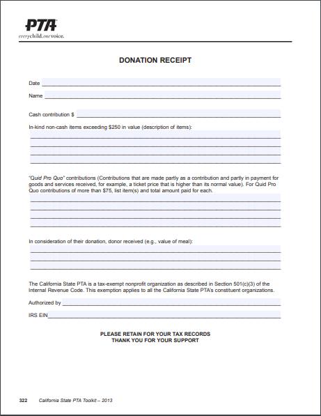 donation receipt template 07