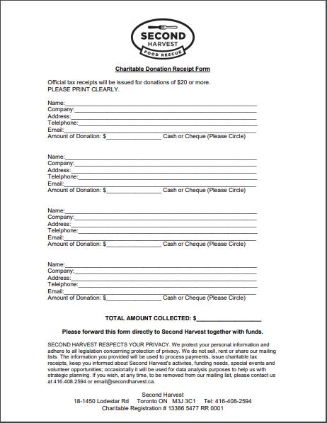 donation receipt template 19