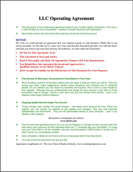 llc agreement template 02
