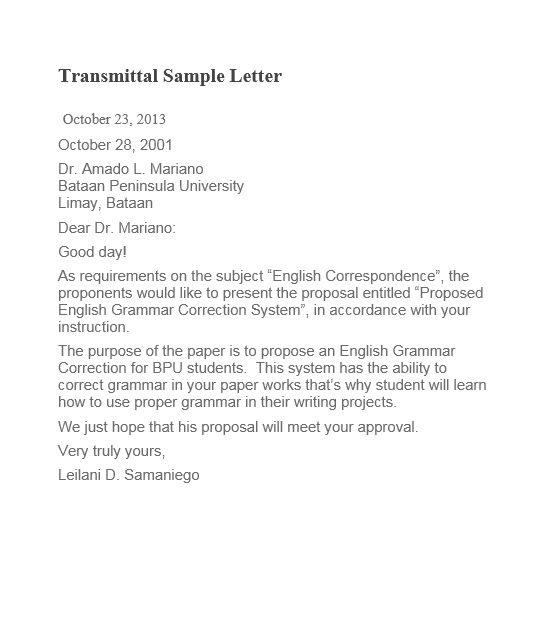 letter of transmittal template 07