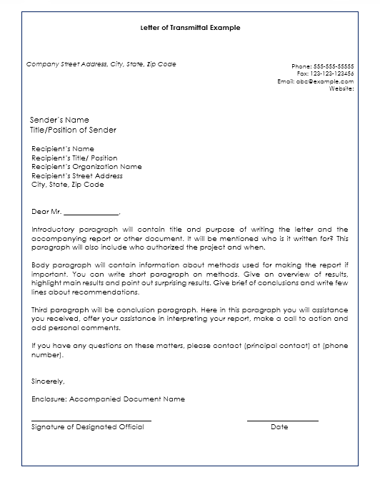 letter of transmittal template 08