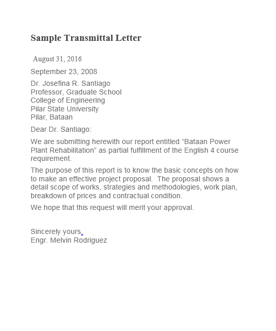 letter of transmittal template 10