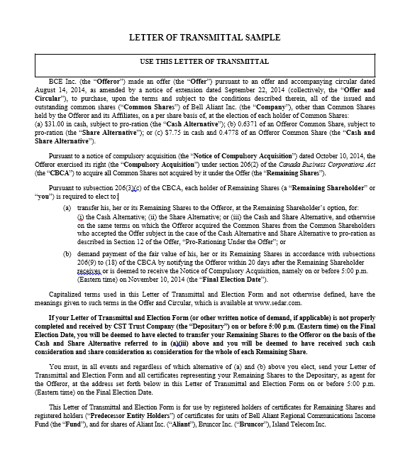 letter of transmittal template 19
