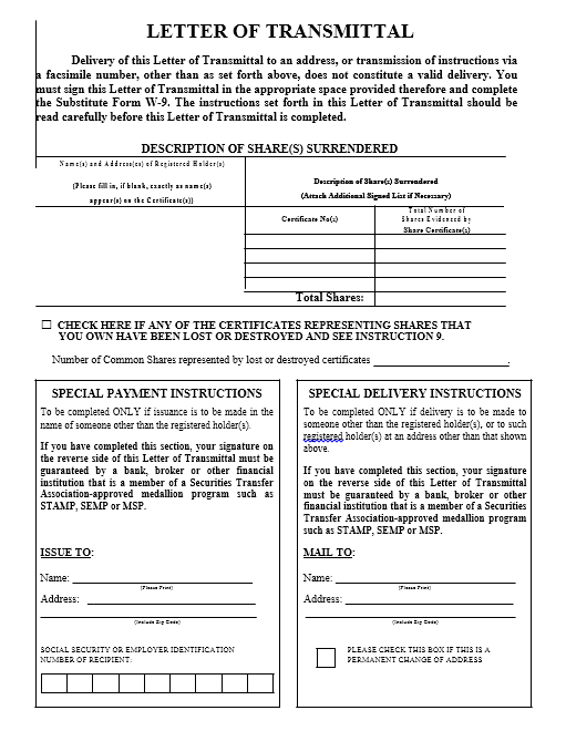 Transmittal Letter - 30 Free Sample Letters in PDF Format