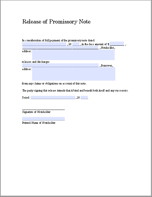 promissory note template 02