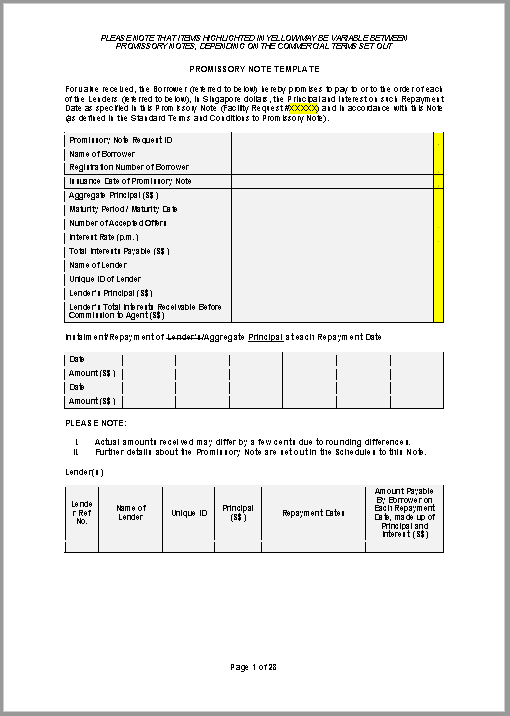 promissory note template 16