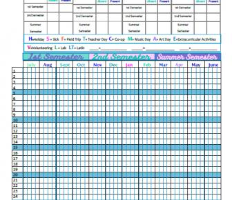 attendance sheet template 01