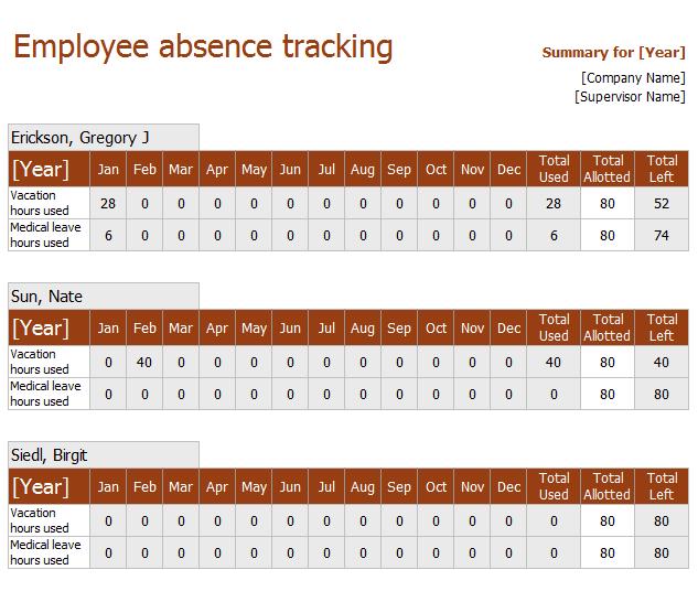attendance sheet template 03