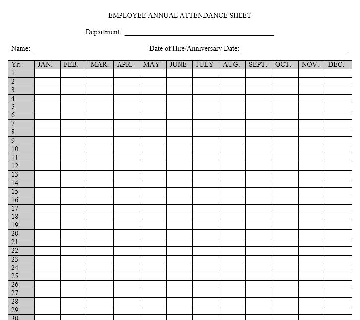 attendance sheet template 04