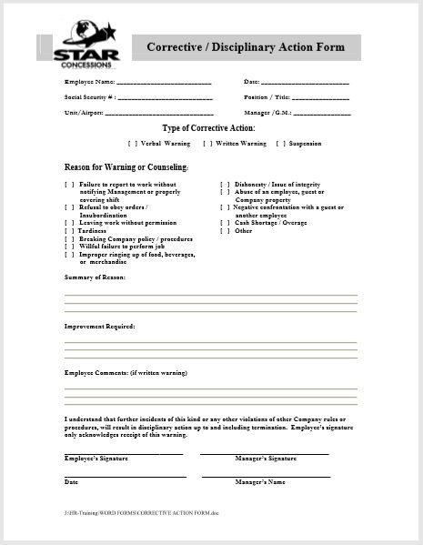 employee write up form 01