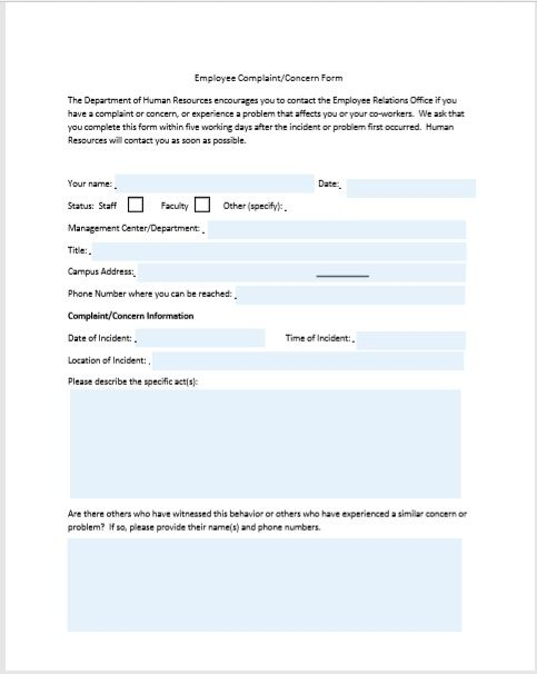 employee write up form 05