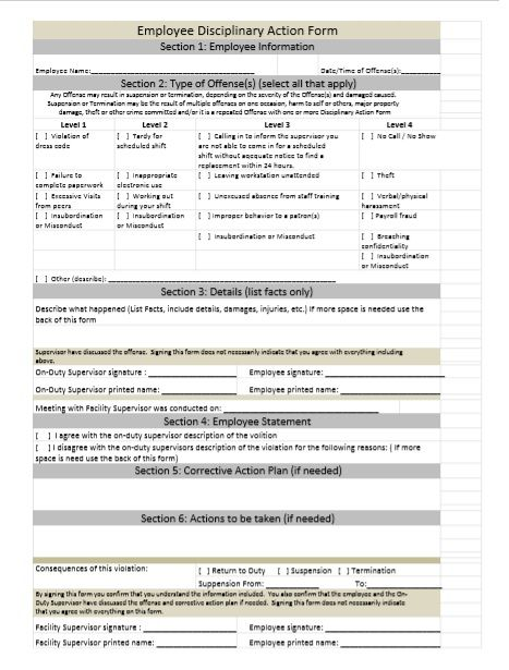 employee write up form 07