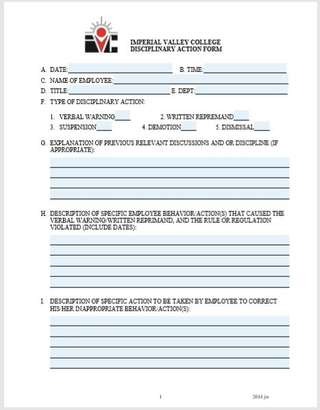 employee write up form 08