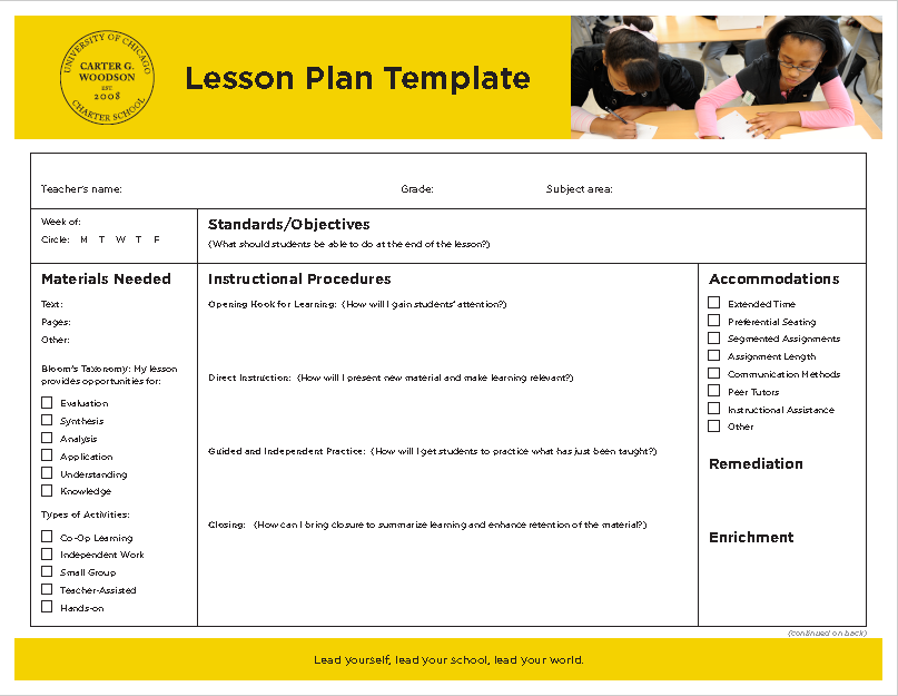 Lesson Plan Template 15