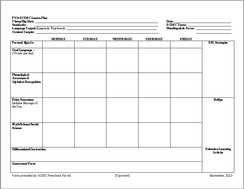 Lesson Plan Template 16