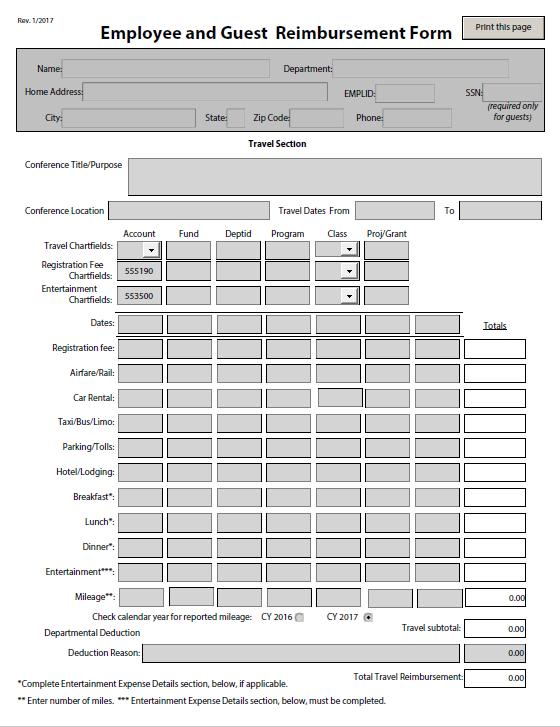 expense reimbursement form 18