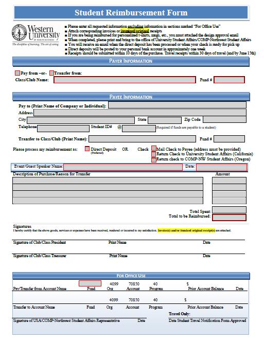expense reimbursement form 19