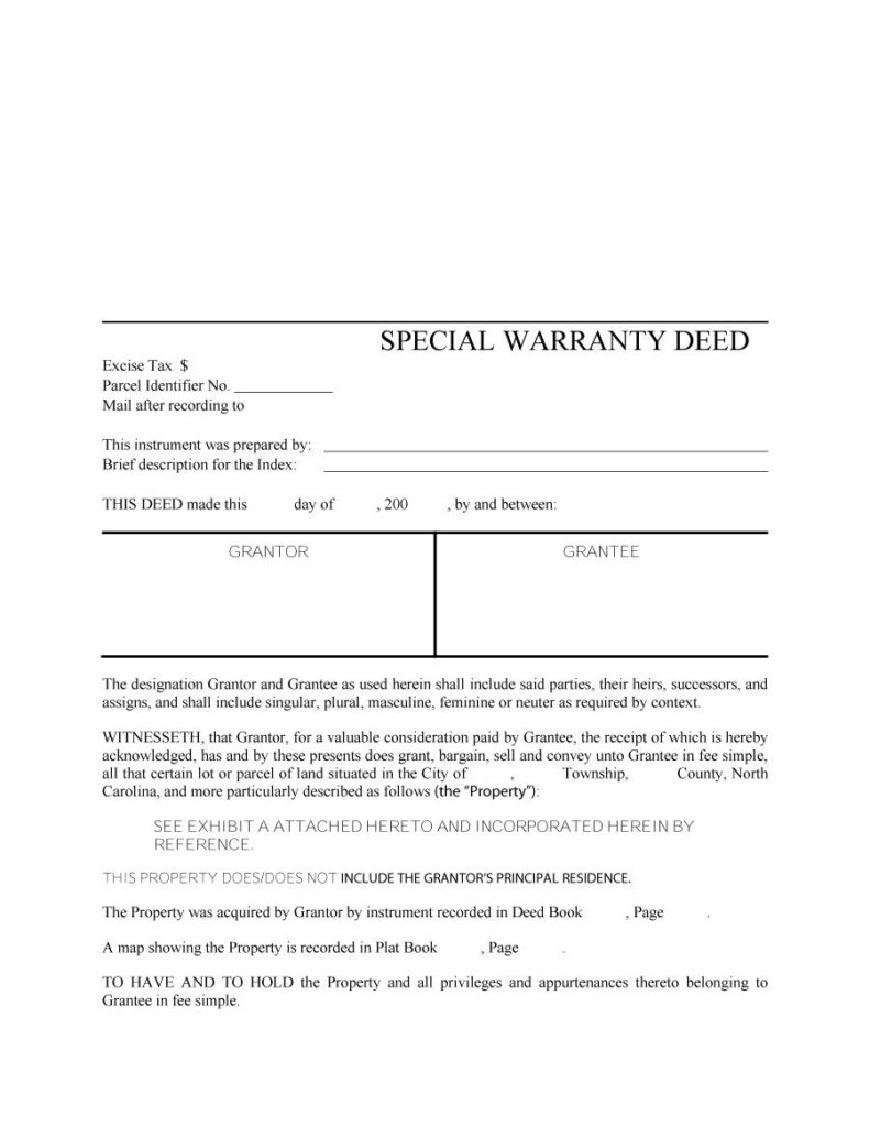 warranty deed form 16