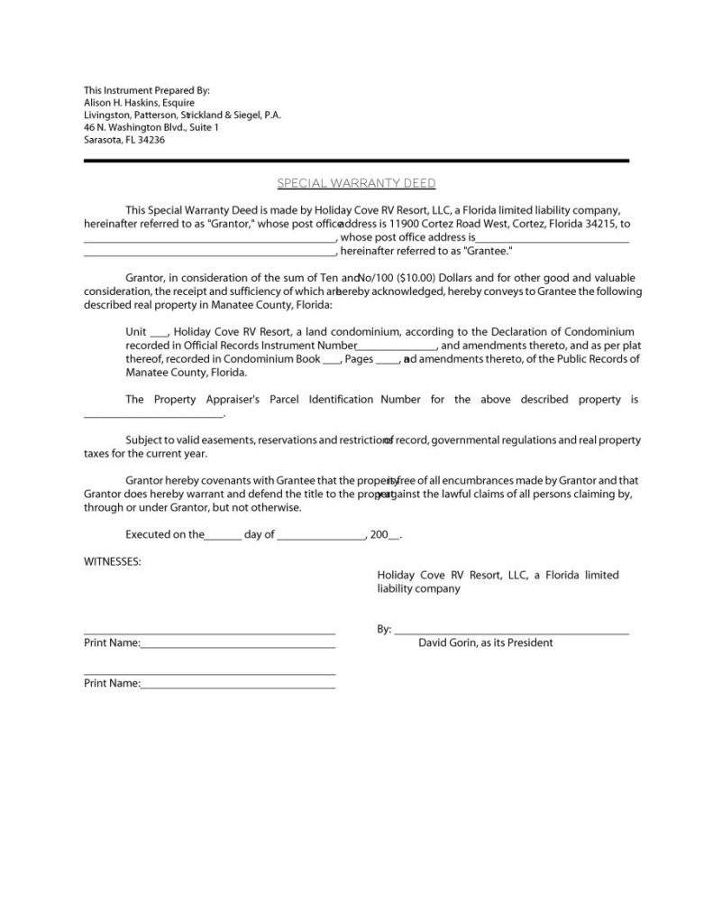 warranty deed form 19