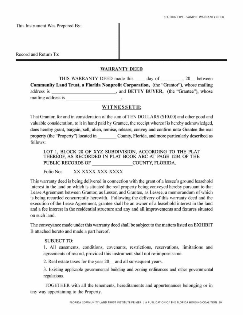 warranty deed template 03