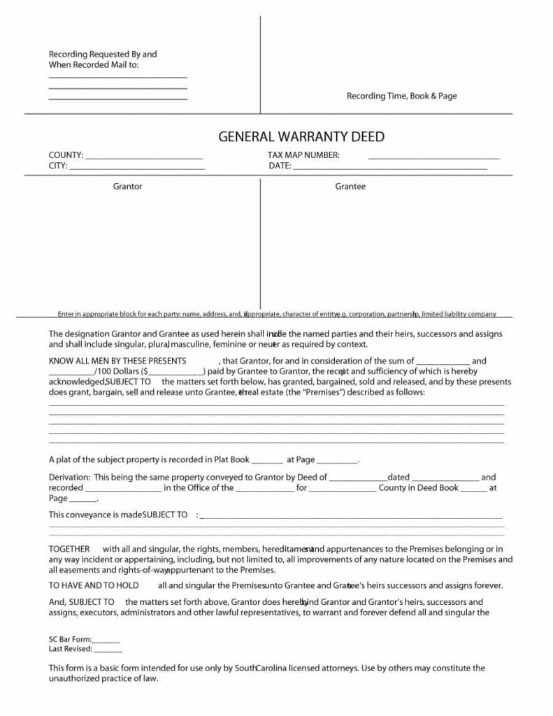 warranty deed template 04
