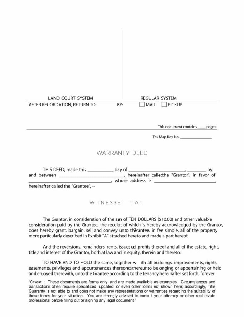 warranty deed template 12