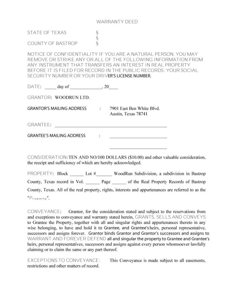 warranty deed template 14