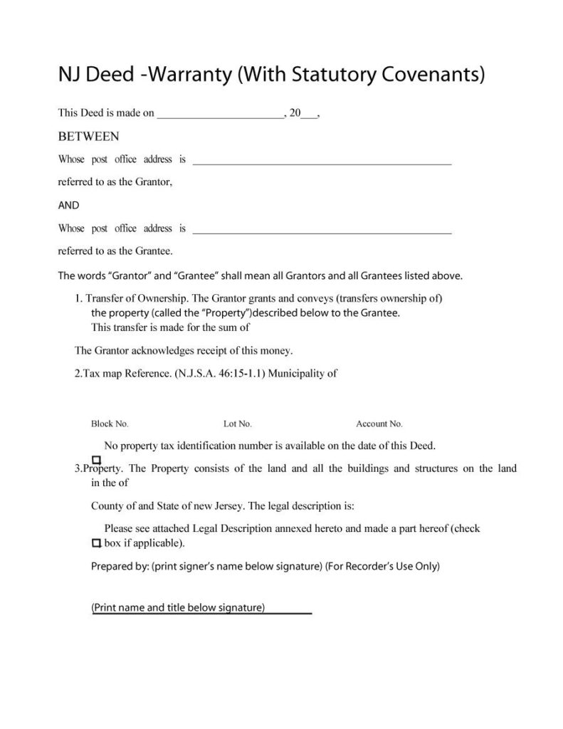warranty deed template 15