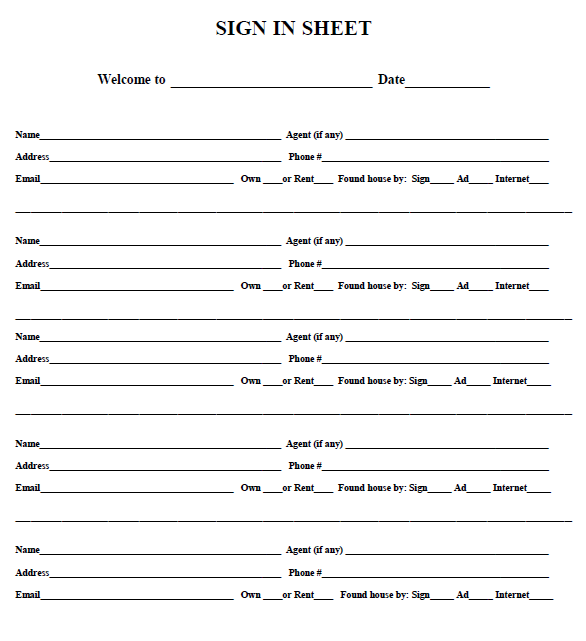 open house sign in sheet 09