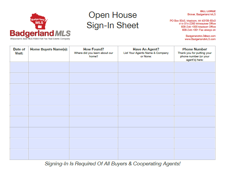 open house sign in sheet 12